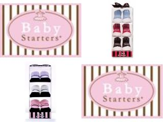 Baby Starters 3 Pairs Infant Socks Booties Boy Girl 0 6