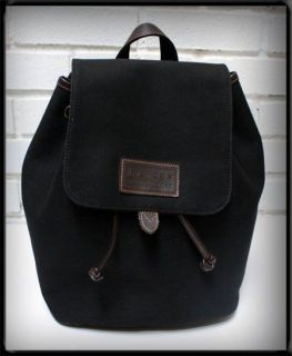 Vtg Polo Ralph Lauren Rucksack Backpack Satchel Bag Blk