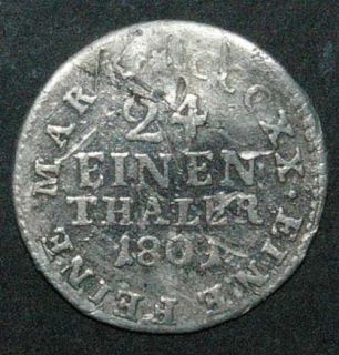 Sachsen   Friedrich August III   1/24 Taler 1801   silver coin