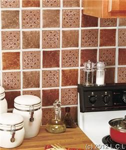 Self Adhesive Kitchen Bath Wall Backsplash Tiles Beautiful Look