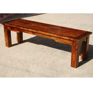 Solid Wood Rustic Backless Bench Dining Patio Outdoor Indoor Furniture