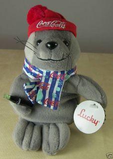 Coca Cola Collectible Plush Bean Bag Seal 0210 1999 Tag Coke