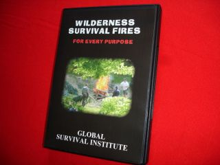 WILDERNESS SURVIVAL FIRES DVD Training Camping Hiking Backpacking Gear