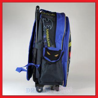 16 batman rolling backpack roller bag wheeled boys