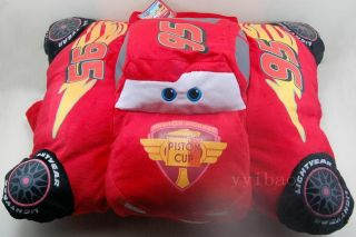 Pixar Cars Lightning McQueen Plush Backrest Pillow Cushion Toy