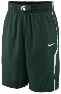 MICHIGAN STATE SPARTANS AUTHENTIC 2012 13 Green Game Shorts M