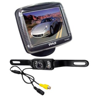 LCD Rear View Night Vision Backup Camera w License Plate Mount