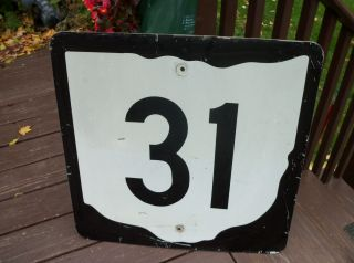 Sign State Route 31 Ohio Shape Kenton Authentic Metal Street Road 24