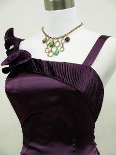 CHERLONE Satin Dark Purple Prom Cocktail Party Ball Bridesmaids
