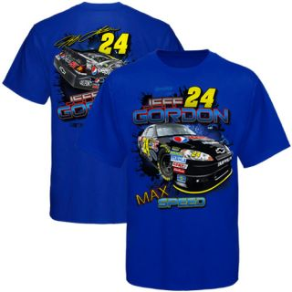 Chase Authentics Jeff Gordon Chassis T Shirt Royal Blue