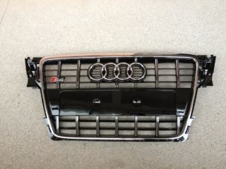 Audi OEM S4 look Black Single Frame Grill Grille Audi A4 S4 B8 8K