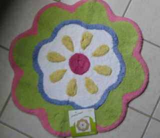 Beans Flower Power Bath Rug Flower Shaped Bath Mat Rug New