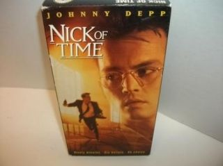 Nick of Time VHS Action Thriller Movie Tape Christopher Walken Johnny