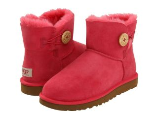 UGG AULSTRALIA MINI BAILEY BUTTON TEA ROSE BOOTS SZ 5 NEW IN BOX