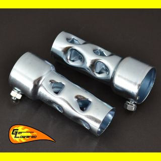 Harley Motorcycle 2 Exhaust Pipes Baffles 4 Long Sportster Drag