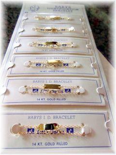 Baby / Child ~ Boy or Girl / Identification ID Bracelet ~ 14K Gold