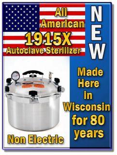 2012 American Stove Top 1915X Sterilizer Autoclave Made in The USA FDA