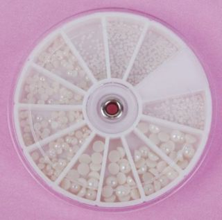 Nail Art Baby Pearl Rhinestone Decoration Wheel Nail Art Box