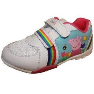 Girls Kids Peppa Pig Bakewell Light Up Trainer Shoe
