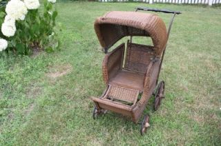 Whitney Wicker Baby Stroller Baby Carriage Baby Pram Baby Buggy