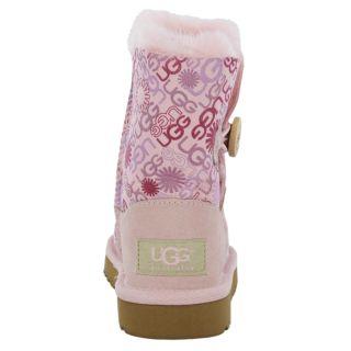 Australia Boots Shoes for Kids Bailey Button Fucshia Sheepskin