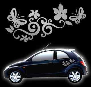 Flower Butterfly Graphic Vinyl Car Stickers Decals