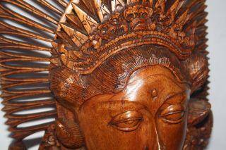 Balinese Sculpture Hand Wood Carved Statue Bali Art Wall Decor