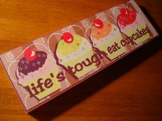 Lifes Tough Eat Cupcakes Bakery Cafe Coffee Shop Kitchen Cake Baker