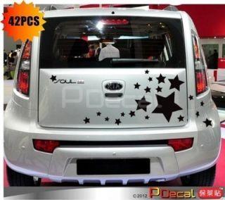 42pcs Big Stars Stardust Car Door Sticker Vinyl Decal