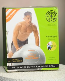 Golds Gym 75 cm Anti Burst Exercise Ball with DVD