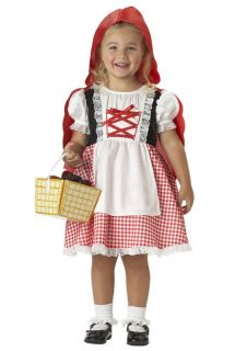 CUTE~~Classic Red Riding Hood Toddler Halloween Costume 00089