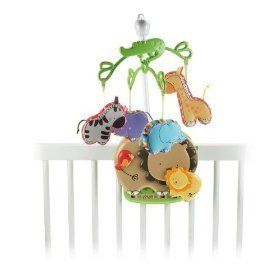 Luv U Zoo Crib Nursery Mobile New Baby Nursery Decor New NIP