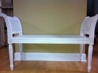 Ballard Designs Antoinette Bench in Cream Brand New