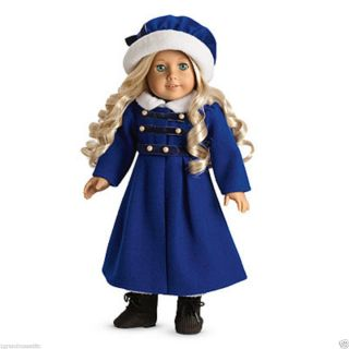 New American Girl Carolines Winter Coat & Cap NIB and NRFB Doll Not