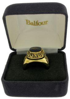 Balfour Ring Boxed Football Offical Nfl Denver Broncos Sz 12.5