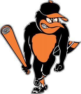 Baltimore Orioles Bird Logo Window Wall Sticker Vinyl Car Decal Any