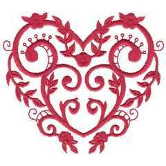 Brother Babylock Embroidery Machine Card Satin Hearts