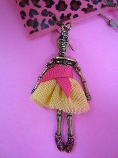 Betsey Johnson Skelton Ballerina Doll Earrings