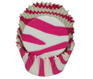 36 Hot Pink Zebra Polka Dot Baking Cups Liners Cupcakes
