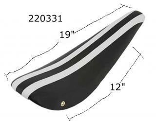 220335 Bicycle Vinyl Banana Bike Seat Black White Stripe Fits Schwinn