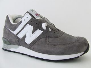 Deadstock Mens New Balance Trainers 576 GRS Grey Suede Sneakers Made