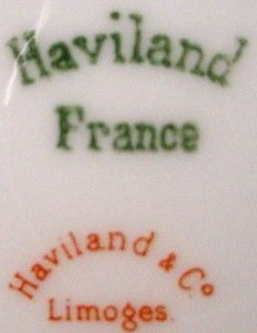 Haviland China Clover Leaf France 17 Oval Meat Platter