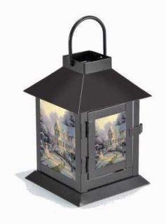 Flameless Lantern LED Coach Style Thomas Kinkade Christmas NEW