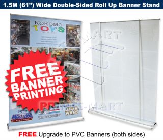 Trade Show Booth 1 5M Roll Up Banner Stand Free Banners