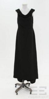 Badgley Mischka Black Full Length Sleeveless Dress Size 8