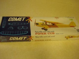 Comet Piper Cub Balsa Wood Scale Model Airplane Kit Factory SEALED