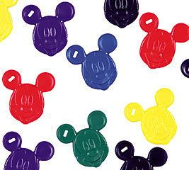 Disney Mickey Mouse Head Balloon Weights Set of 10 for Mylar or Latex