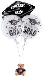 Graduation Balloon Bouquet Centerpiece Bear Weight