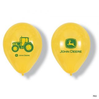 John Deere 6 12 Latex Balloons Tractor Party Supplies Birthday Green