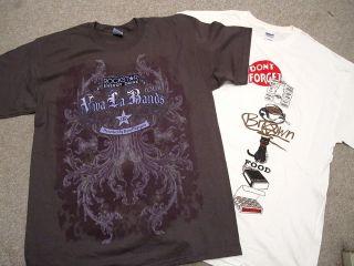 Bam Margera Autograph T Shirt Lot Viva La Bands Rockstar Energy Drink